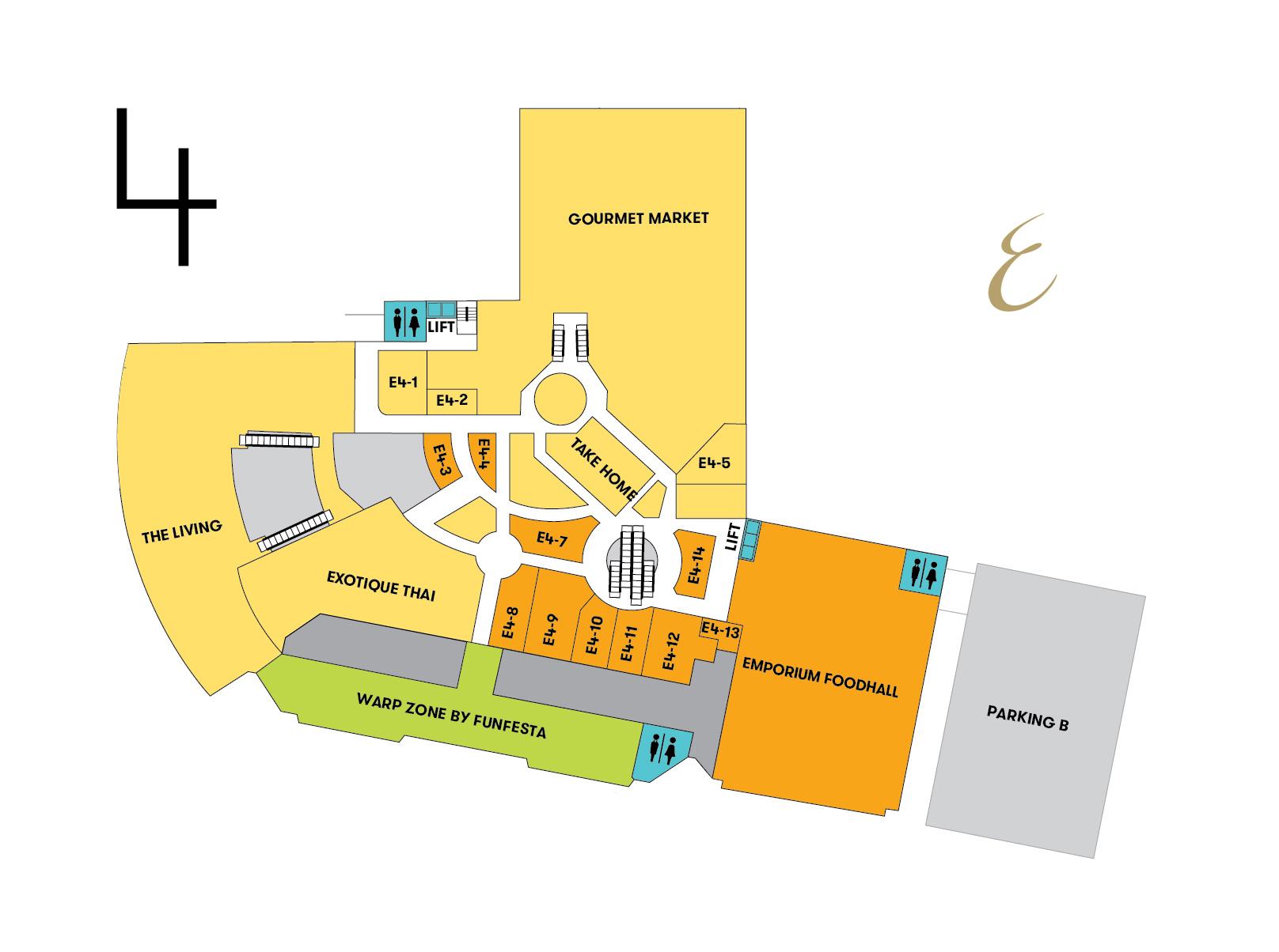 แผนที่ร้านค้าทั้งหมดในเอ็มโพเรียม